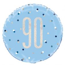 Blue Glitz '70th' Foil Balloon